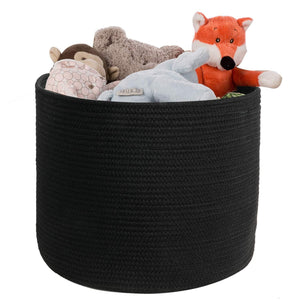 Black Cotton Rope Plants Basket