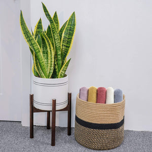 Wood Plant Stand Pot Holder
