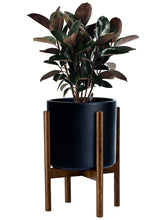 Load image into Gallery viewer, Gstory Mid Century Plant Stand - Up to 10'' Flower Pot, Wood Indoor Planter Holder