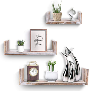 Wooden Wall Floating Shelves Set of 3