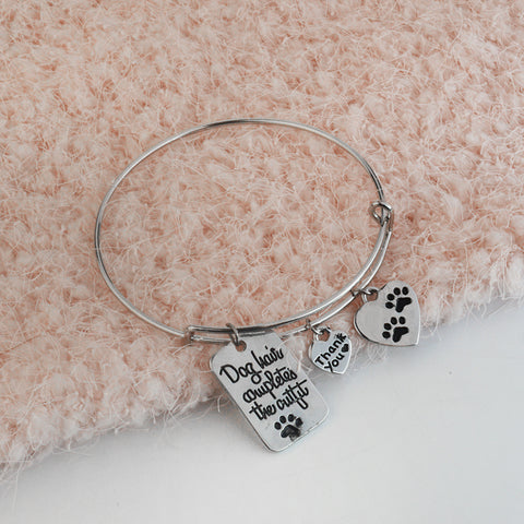 Pulsera plata love dog