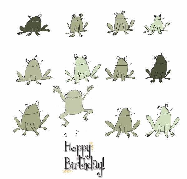 HipHipQuack | Hoppy Birthday little card