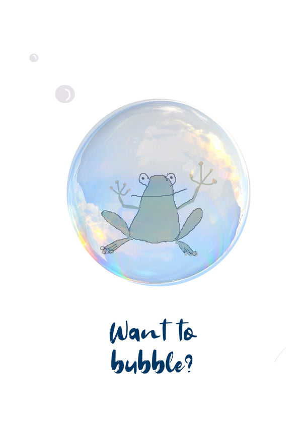 HipHipQuack | Bubble Frog Card
