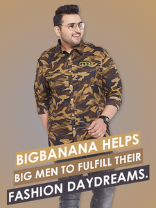 Plus size men clothing India - bigbanana