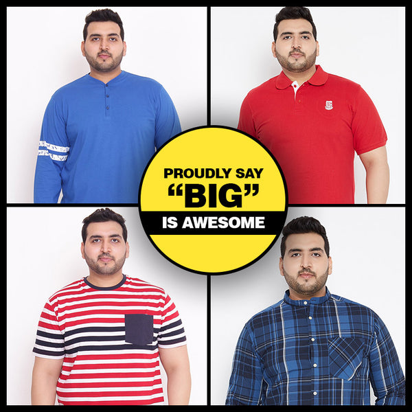 The best place to buy XXL to 7XL plus size clothes for men in India