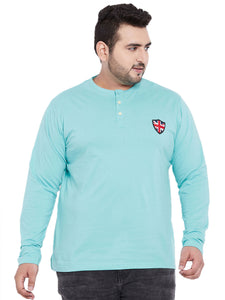 bigbanana Juan Solid Henley with British Badge - Bigbanana