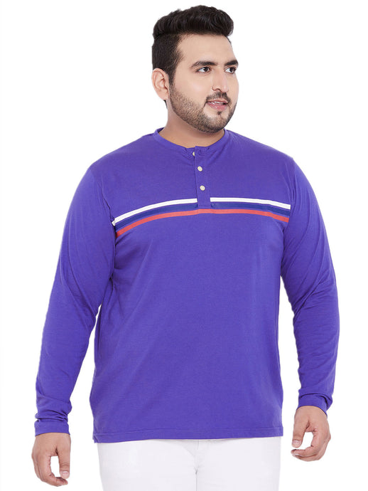 bigbanana Miller Striped Henley in Purple Color - Bigbanana