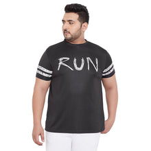 bigbanana Flint Round Neck black performance Round Neck T-shirt