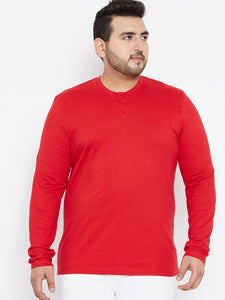 Bigbanana Penn Henley T-Shirt Red - Bigbanana