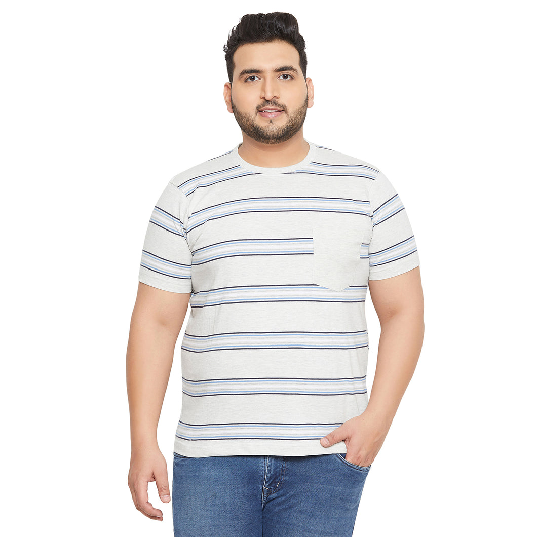 bigbanana Camden Grey Striped Round Neck T-shirt