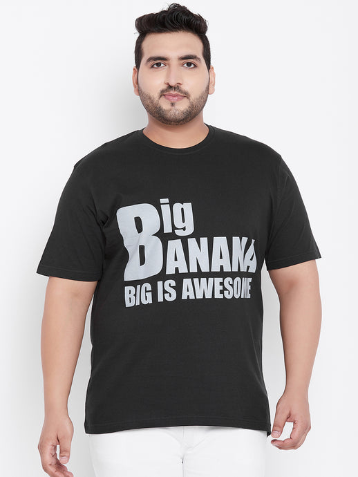 bigbanana Crimson Round Neck T-Shirt Black - Bigbanana