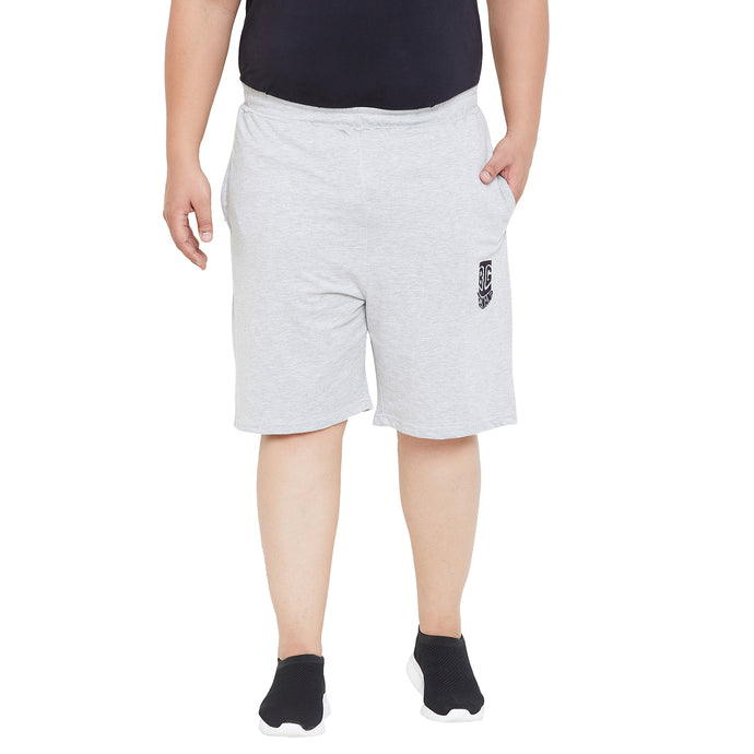 bigbanana Salford Grey Solid Regular Fit Sports Shorts