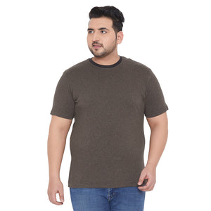 bigbanana Phil Brown Solid Round Neck T-shirt