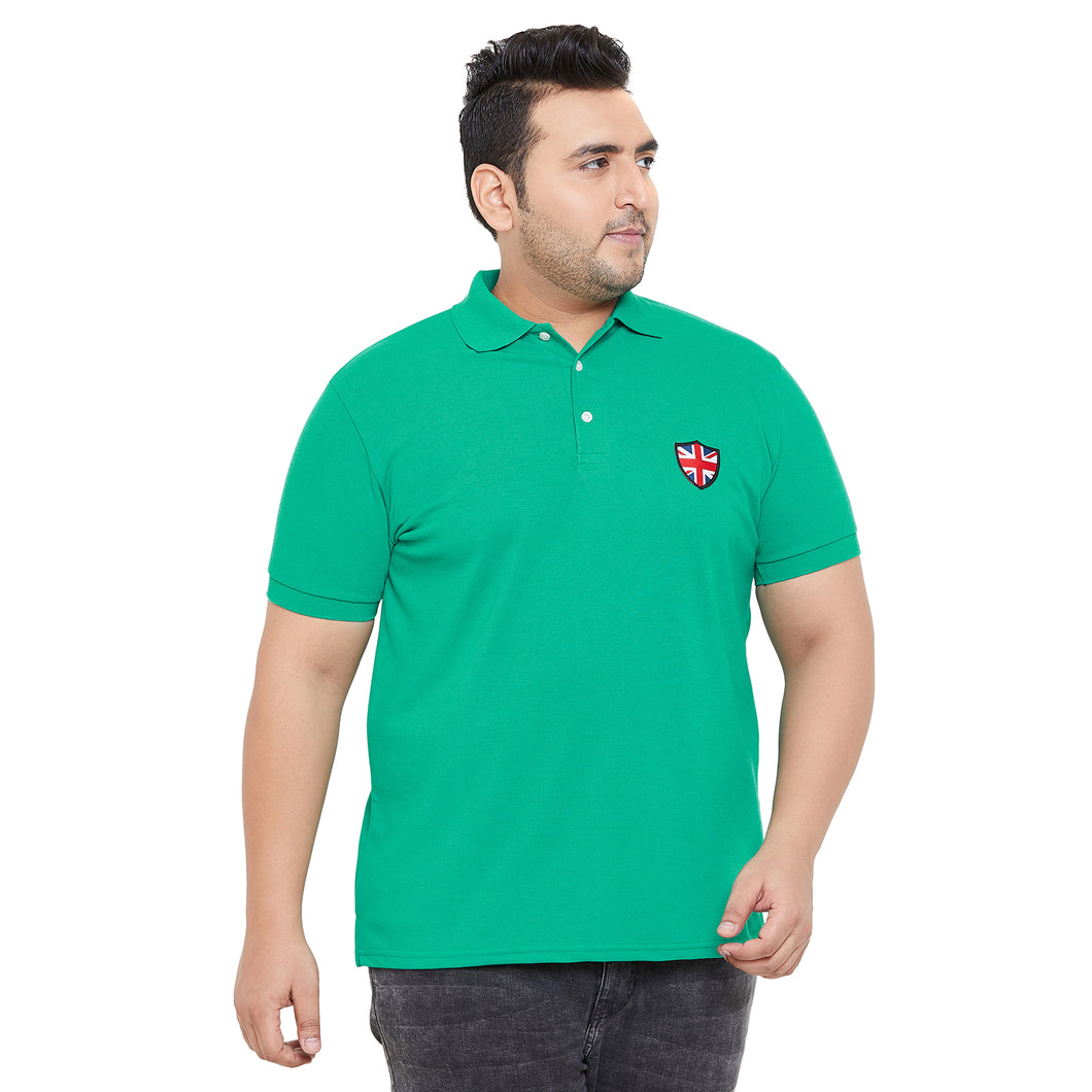 bigbanana Robert Green Solid Polo Collar Bio Finish T-shirt