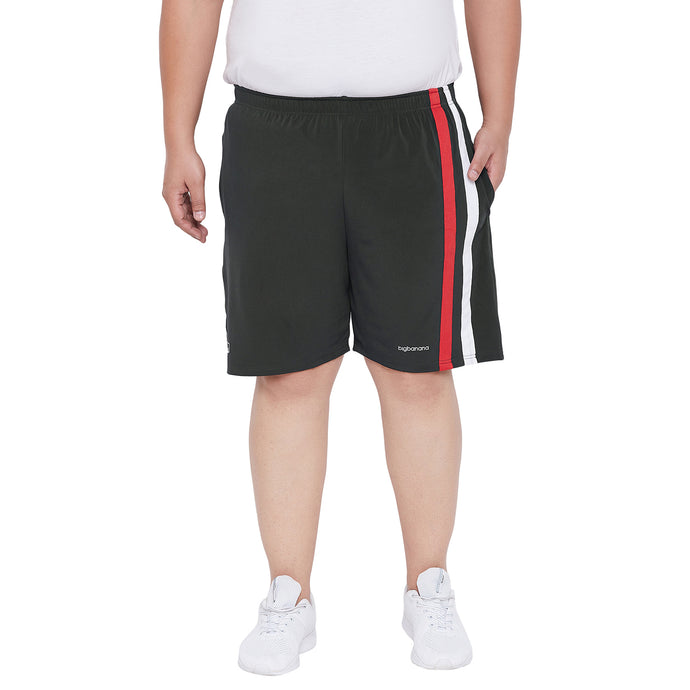 bigbanana Repton Black Solid Antimicrobial Sports Shorts