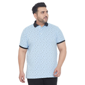 bigbanana Stevensons Printed Plus Size Polo Collar T-shirt