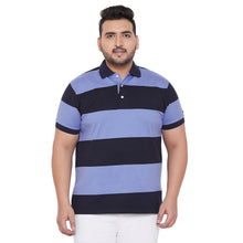 bigbanana Bath Blue Striped Polo Collar Bio Finish T-shirt