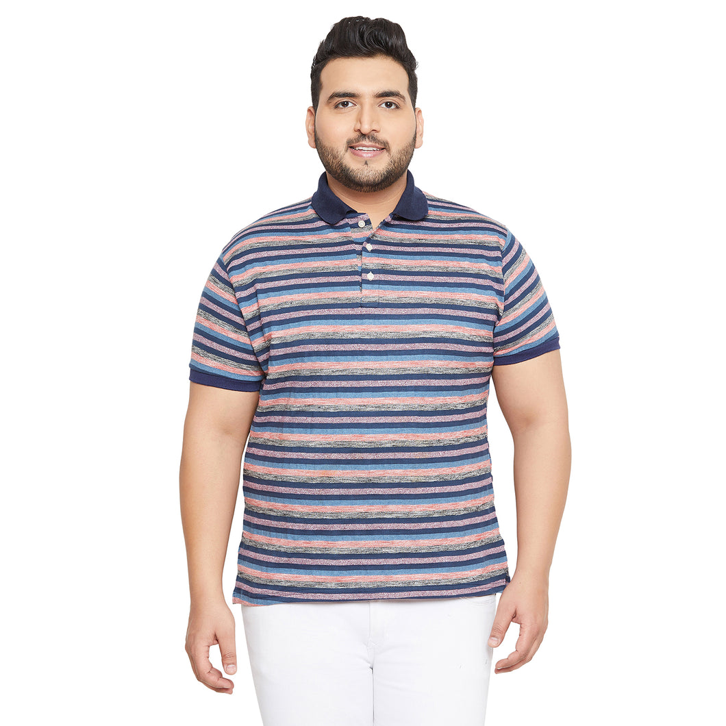 bigbanana Bendigo Multicoloured Striped Polo Collar T-shirt
