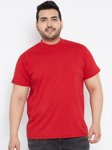 bigbanana Tony Solid Round Neck Tshirt in Red Color - Bigbanana