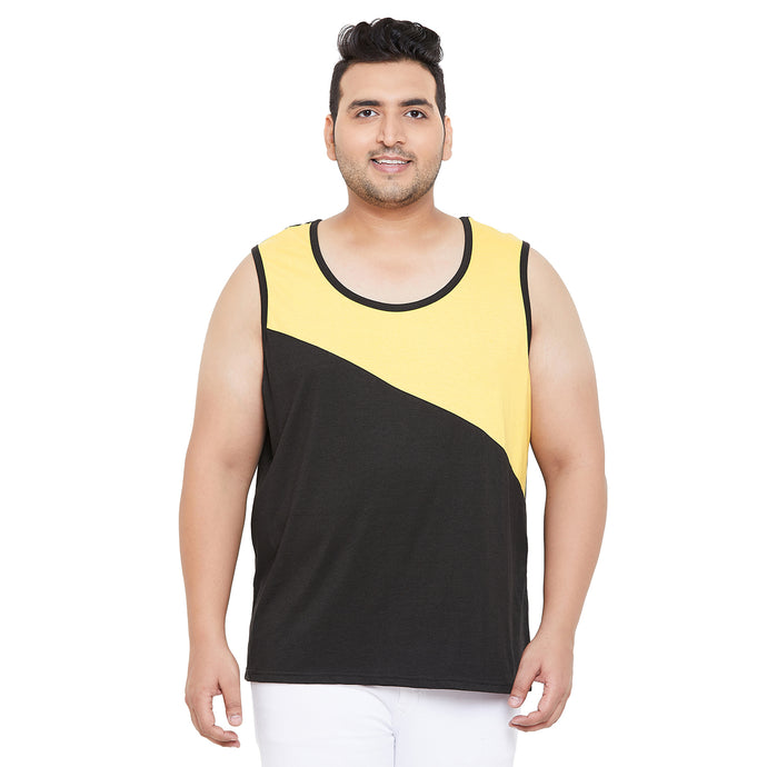 bigbanana Wood Grey Colourblocked Innerwear Vest