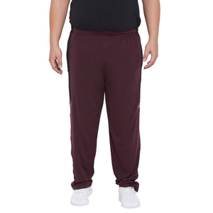 bigbanana Belper Burgundy Solid Antimicrobial Track Pants