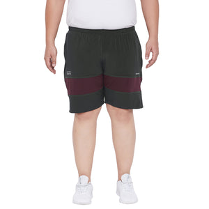 bigbanana Gypsy Black Solid Antimicrobial Sports Shorts