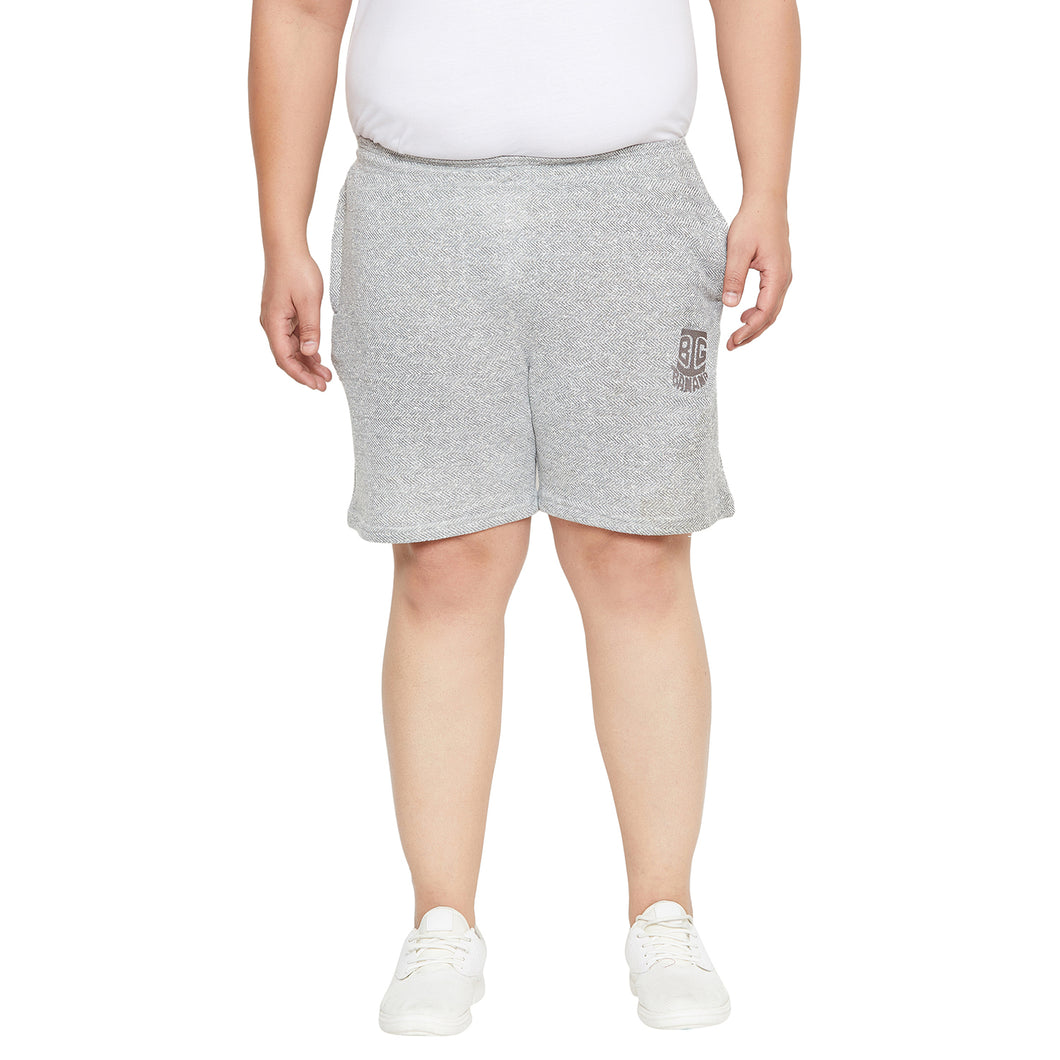 bigbanana Melbourne Grey Solid Regular Fit Regular Shorts