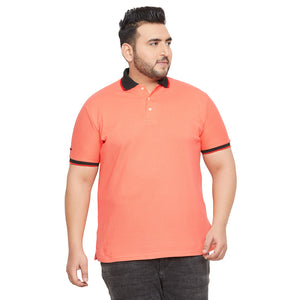 bigbanana Tamworth Orange Striped Polo Collar T-shirt