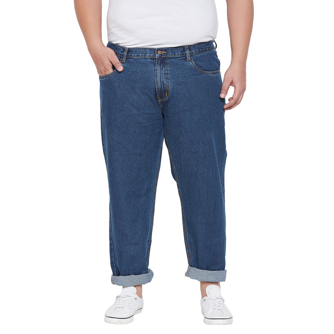 bigbanana Chlemsford Blue Regular Fit Mid-Rise Clean Look Stretchable Jeans