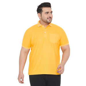 bigbanana bbsie-Yellow Solid Polo T-Shirt