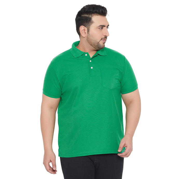 bigbanana bbsie-Green Solid Polo T-Shirt