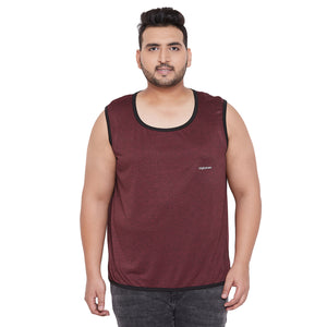 bigbanana Saltash Maroon Solid Reversible Gym Vest