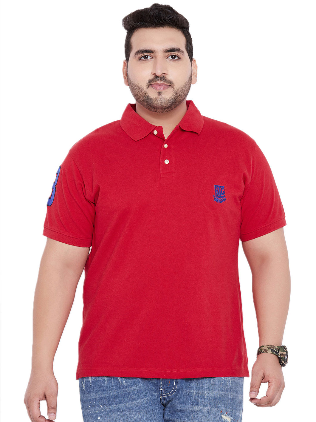 bigbanana TIM Red Polo T-Shirt - Bigbanana