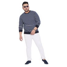 bigbanana Blake Navy Blue & White Striped Sweatshirt