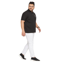 bigbanana Canberra black Solid Polo Collar T-shirt