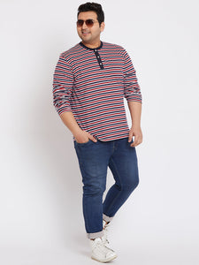 bigbanana Dublin Multi Striped Henley T-Shirt