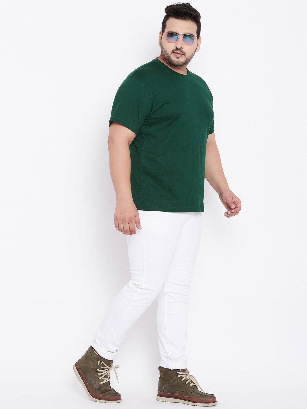 bigbanana Tony Dark Green Round Neck T-Shirt - Bigbanana