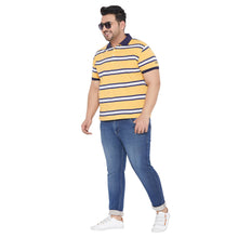 bigbanana Basil Yellow Color Stripes Polo