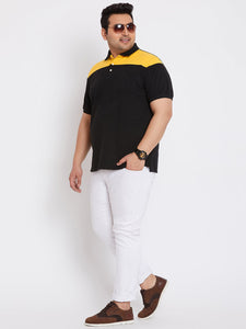 bigbanana Ottawa Black Colorblock Polo T-Shirt