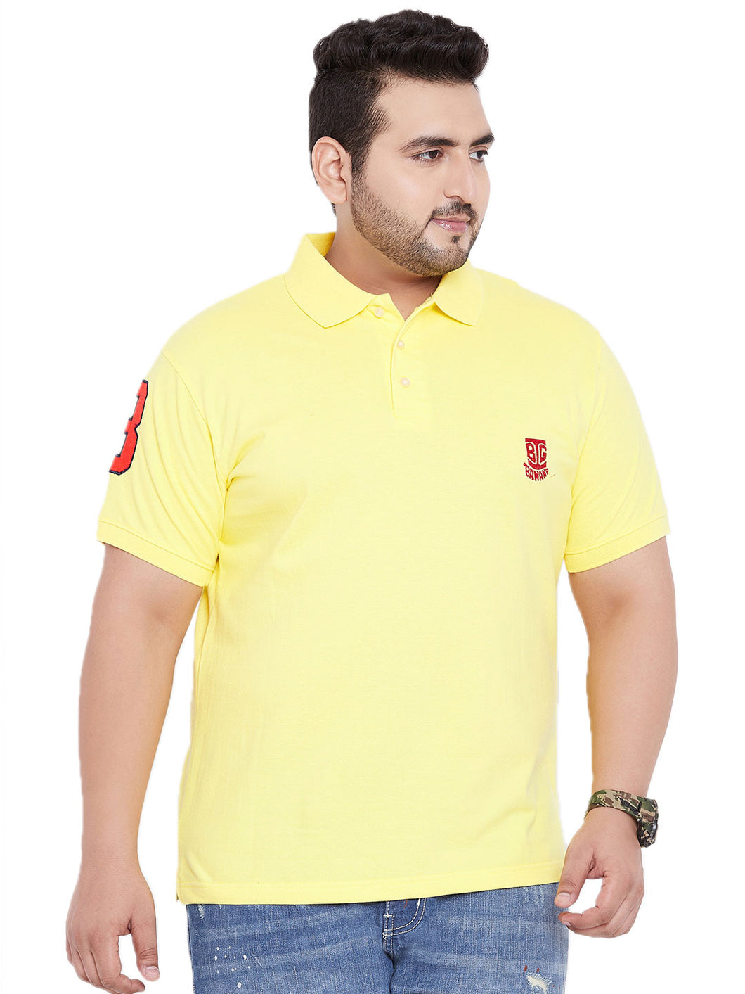 bigbanana TIM Yellow Polo T-Shirt - Bigbanana