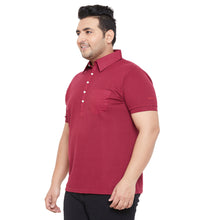 bigbanana AustinM Maroon Solid Polo Collar Bio Finish T-shirt
