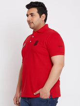 bigbanana Frank Red Solid Polo T-Shirt