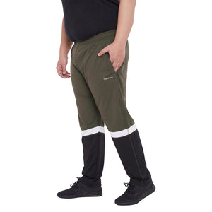 bigbanana Jonathan Olive Colourblocked Antimicrobial Track Pants