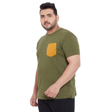 bigbanana Derby Olive Solid Round Neck T-Shirt