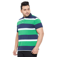 bigbanana Stokes Multicolor Striped Polo Neck Bio-Finish T-shirt