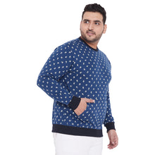bigbanana Bradley Navy Blue Printed Plus Size Sweatshirt