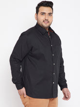bigbanana Clark Black Classic Regular Fit Solid Casual Shirt
