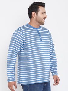 bigbanana Marshall Blue Striped Round Neck T-shirt