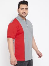 bigbanana Arsenal Red and Grey Colorblock TShirt