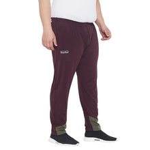 bigbanana Capel Burgundy Solid Plus Size Track Pants